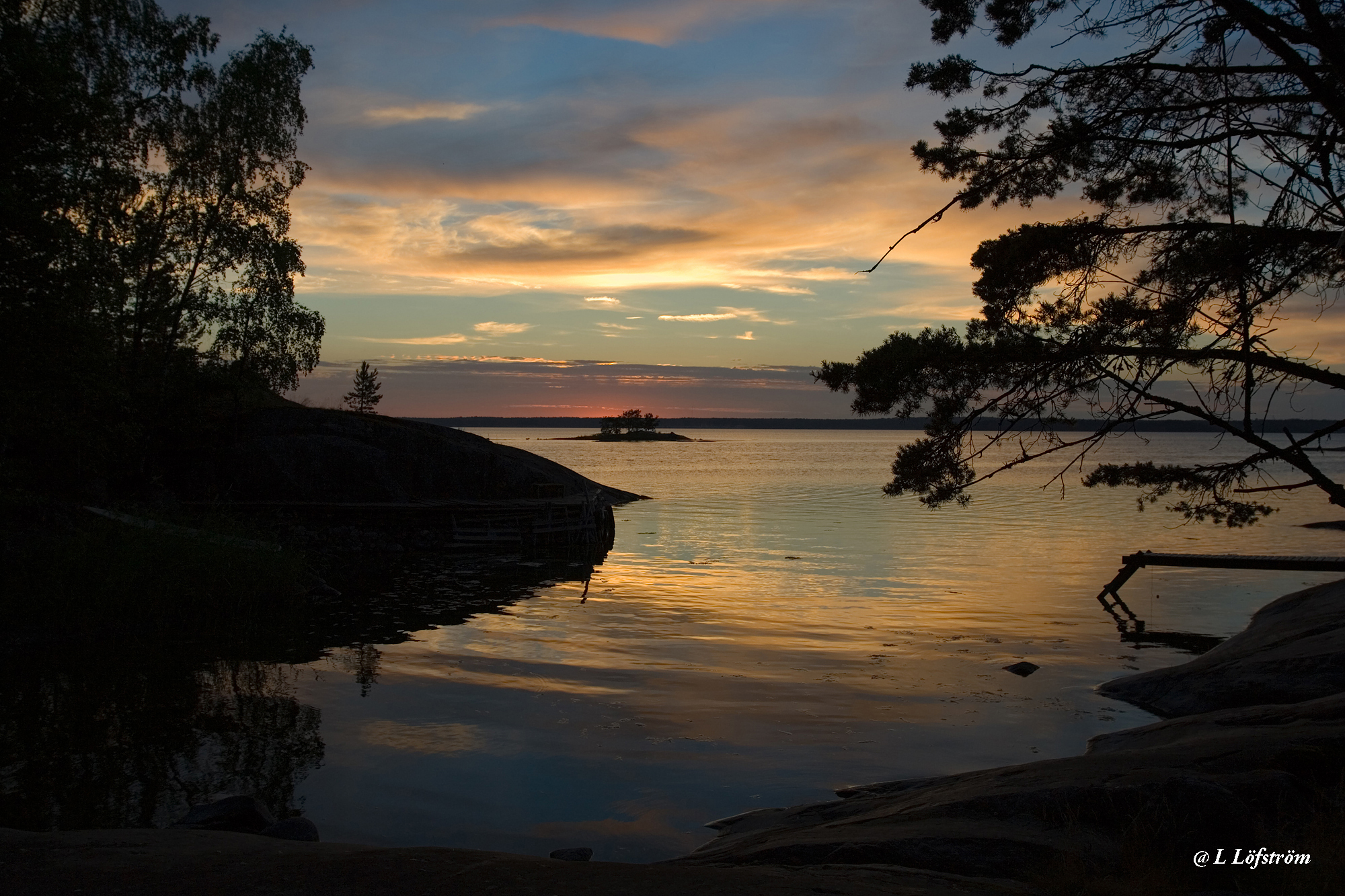 Landscapes-Sunset in Archipelago