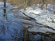 A small stream in winter, not totally ice covered - Last view 2020-12-02