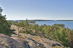 A view towards the sea from Kasavuori hill, Soukka - Last view 2021-02-24