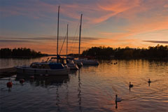 Sunset in Haukilahti boat harbour - Last view 2021-02-24