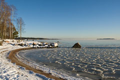Melsten beach in winter - Last view 2021-02-24