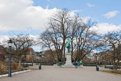 The statue of Karl XII in Kungsträdgården park - Last view 2021-02-24