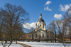 Katarina kyrka (Church of Catherine) is one of the major churches in central Stockholm - Last view 2021-02-24