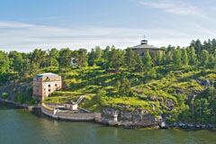 Fredriksborg fortification and Oxdjupet strait in Stockholm archipelago - Last view 2021-02-24