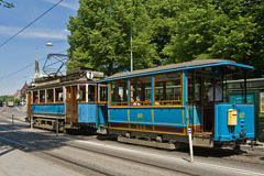One of the trams, which run the heritage tramway from Norrmalmstorg to Djurgården. - Last view 2021-02-24