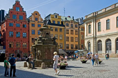 Stortorget (The Big Square), is a small square in Gamla Stan  - Last view 2021-02-24