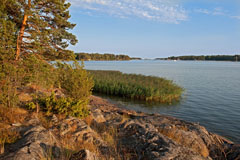 An august evening at the southernmost mainland point of Espooo in Soukanniemi cape - Last view 2021-02-24
