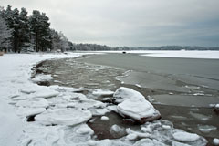 Freezing sea in Haukilahti - Last view 2021-02-24