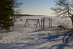 Haukilahti beach in March - Last view 2021-02-24