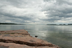 Rainy Midsummer day at  Espoo coast in Haukilahti (Espoo Waterfront Walkway - Rantaraitti) - Last view 2021-02-24