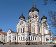 Alexander  Nevsky Catedral. Estonia´s main Russian Orthodox cathedral - Last view 2021-02-24