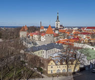 The best look-out point to see Tallinn´s fairy tale city wall and towers - Last view 2021-02-24
