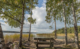 Autumnal view from Laurinlahti (Espoo Waterfront Walkway-Rantaraitti) - Last view 2021-02-24