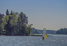 Windsurfer in Espoo Bay near Soukka - Last view 2021-02-24