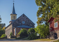 Karjalohja church was originally built in 1860, burnt by lightning in 1970 and rebuilt in  1995 - Last view 2020-12-02