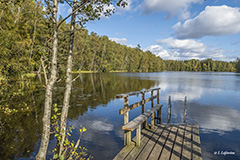 Hannusjärvi lake seen from its western end - Last view 2021-02-24